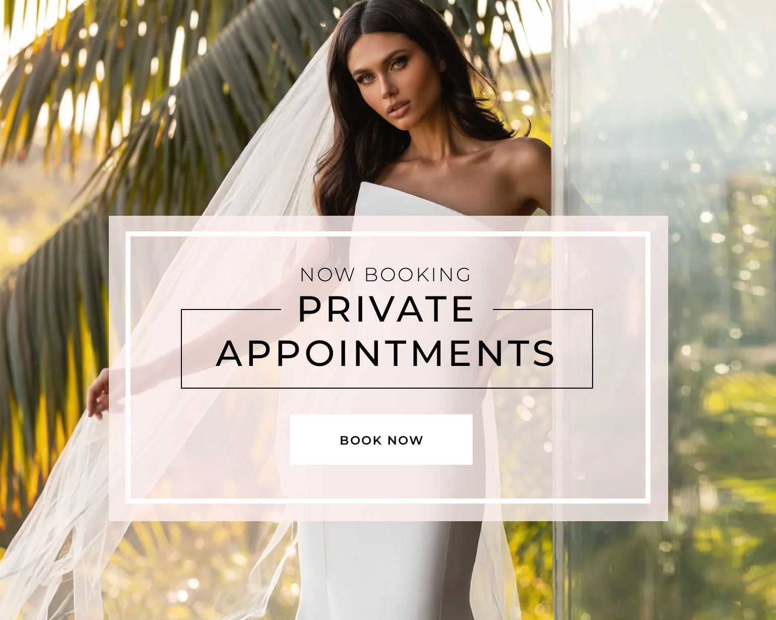 Now Booking Private appointments banner on mobile device